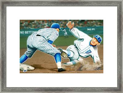 Ty Cobb Coming In Hot Framed Print