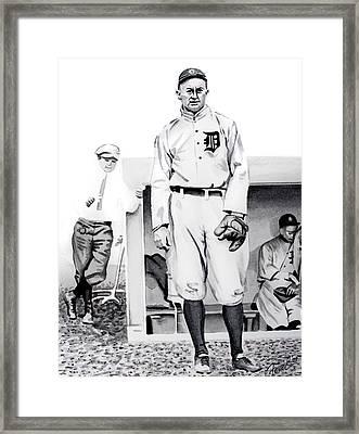 Ty Cobb Framed Print by Ferrel Cordle