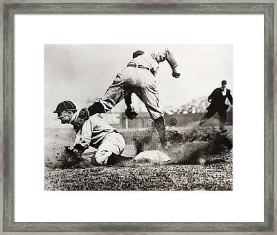 Ty Cobb Gets A Triple Framed Print by Jon Neidert