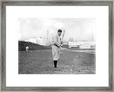 Ty Cobb Framed Print by Jon Neidert