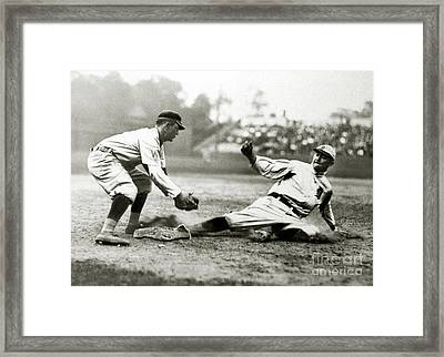Ty Cobb Safe At Third  Framed Print