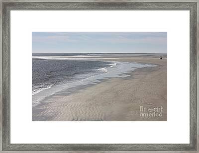 Tybee Island Beach Framed Print by Carol Groenen