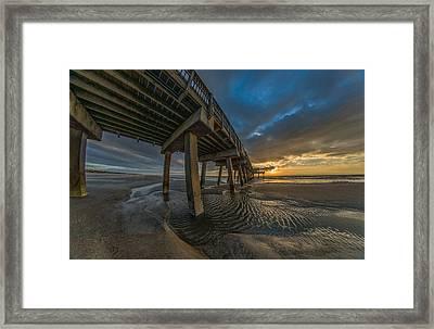 Tybee Island Beach Pier  Framed Print