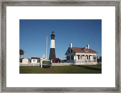 Tybee Island Light Station Framed Print by Bruce