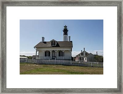 Framed Print featuring the photograph Tybee Island Lighthouse by Kim Hojnacki