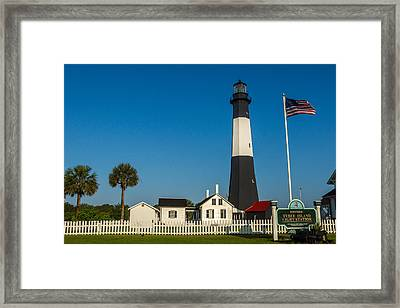 Tybee Island Lighthouse Framed Print