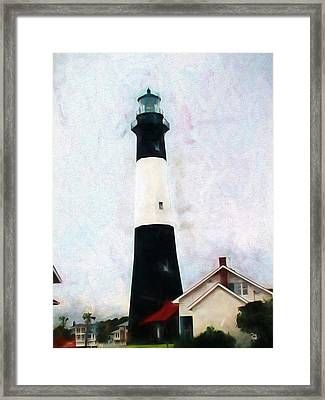 Tybee Lighthouse - Coastal Framed Print