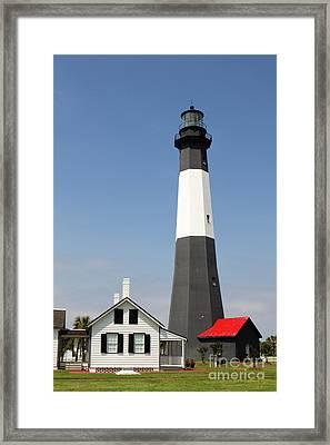 Tybee Lighthouse Georgia Framed Print