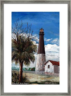 Tybee Lighthouse Framed Print by Robynne Hardison