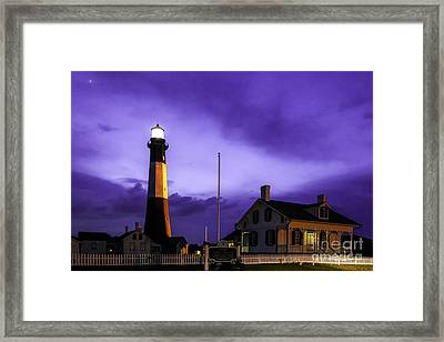 Tybee Purple Haze Framed Print by John Roberts