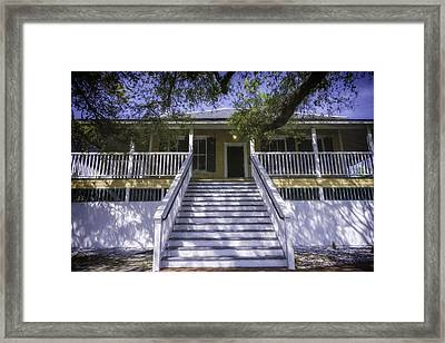 Tybee Raised Cottage Framed Print by Joan Carroll