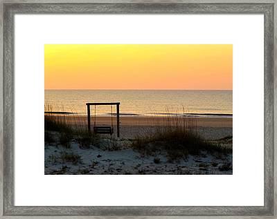 Tybee Swing Framed Print