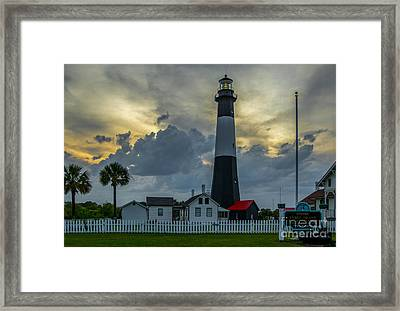 Tybee Twilight Framed Print