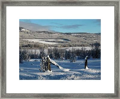 Tyee Lake From Hi-road, Winter Framed Print