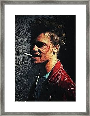 Tyler Durden Framed Print by Taylan Apukovska