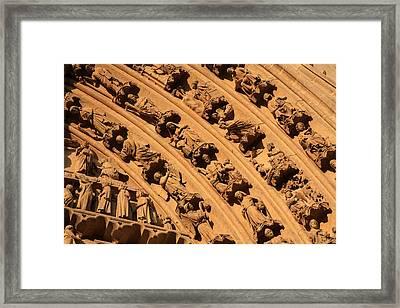 Tympanum Of Central West Portal Framed Print