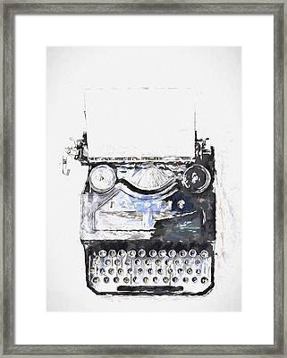 Type Framed Print by John K Woodruff