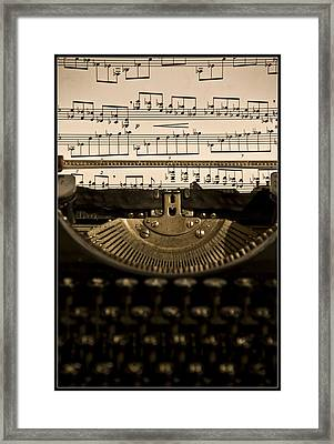Type Music Letters In Paper Framed Print by Martin Zalba