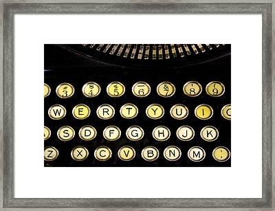 Typewriter Framed Print by Christopher Woods