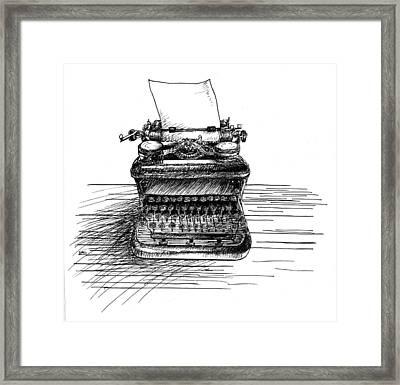Typewriter Framed Print by Diana Ludwig