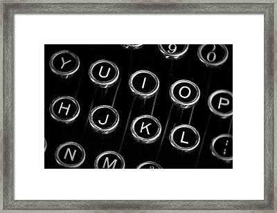 Typewriter Keyboard I Framed Print