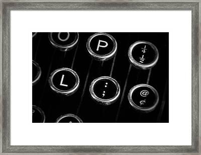 Typewriter Keyboard II Framed Print