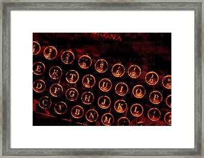 Typewriter Keys Framed Print by Colleen VT