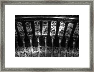 Typewriter Keys Framed Print by Tom Mc Nemar