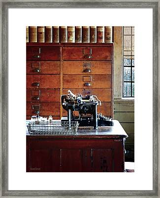 Typewriter Framed Print by Susan Savad