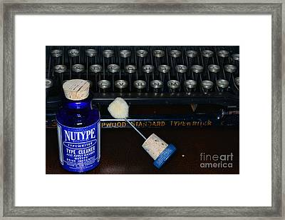 Typewriter Time To Clean The Keys Framed Print by Paul Ward