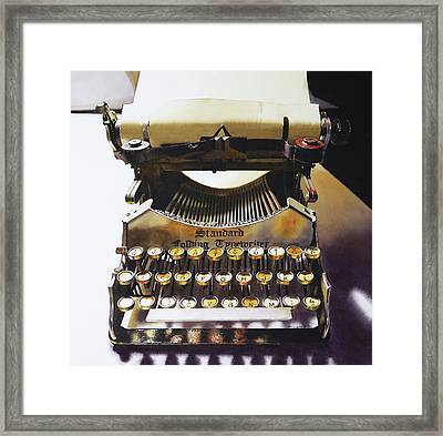 Typewritering Framed Print