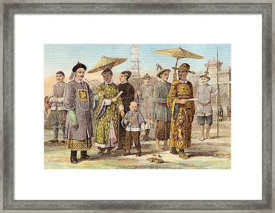 Typical Dress Of The Mongol Race - Framed Print by Vintage Design Pics
