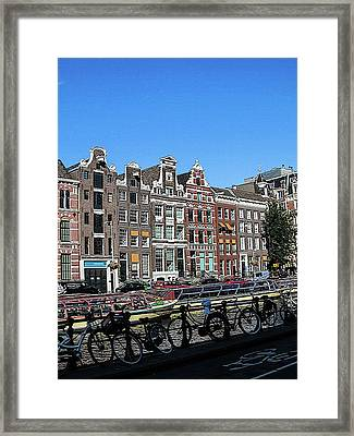 Typical Houses In Amsterdam Framed Print