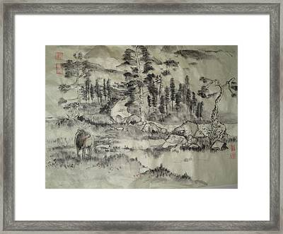 Framed Print featuring the painting Typical Idaho Scene by Debbi Saccomanno Chan