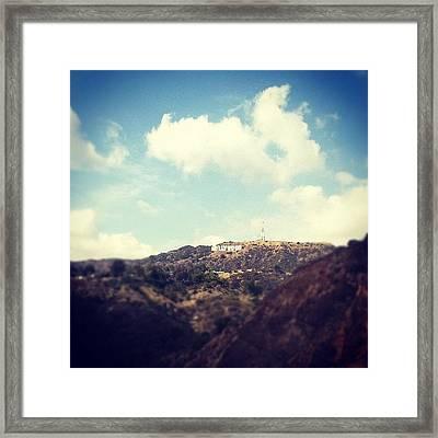 Typical La Shot, But Loved The Sky! Framed Print