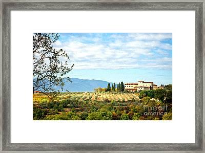 Typical Tuscan Hill Framed Print