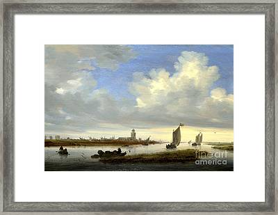 typical View of Deventer Seen from the North-West Framed Print by Celestial Images