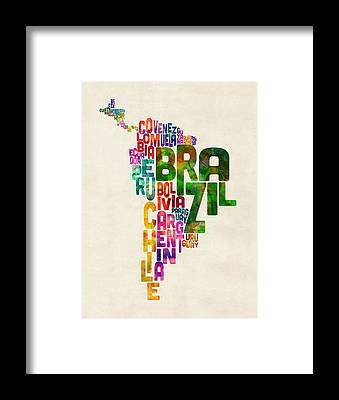 Latin America Framed Prints