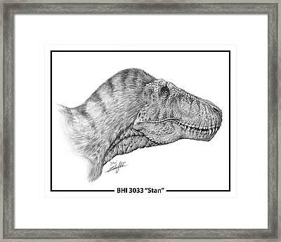 Tyrannosaurus Rex Framed Print by Zach Coker