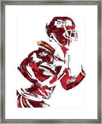 Framed Print featuring the mixed media Tyreek Hill Kansas City Chiefs Pixel Art 1 by Joe Hamilton