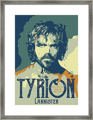 Tyrian Lannister Game Of Thrones Framed Print