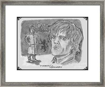 Tyrion Lannister-  Framed Print by Chris  DelVecchio