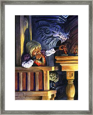 Tyrions Next Move Framed Print by Richard Hescox