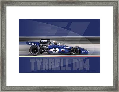 Tyrrell 004 Framed Print