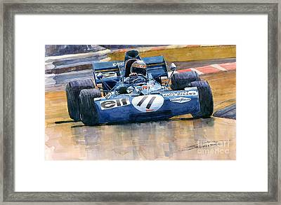 Tyrrell Ford 003 Jackie Stewart 1971 French Gp Framed Print