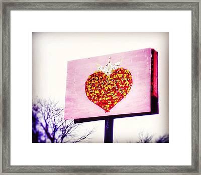 Tyson's Tacos Heart Framed Print