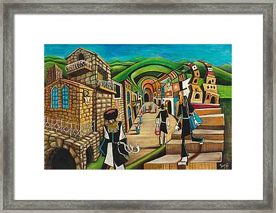 Tzfat The Way I See It Framed Print
