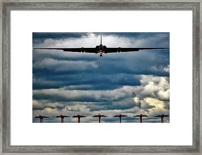 U-2 Landing At Sunset Framed Print