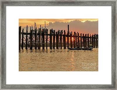 U-bein Bridge Framed Print