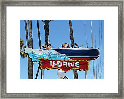 U-drive Boat Sign Framed Print